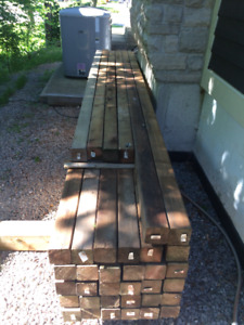4 x 4 x 12'  WESTERN RED CEDAR POSTS for fencing - Oakville