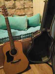 Walden acoustic guitar with hard case