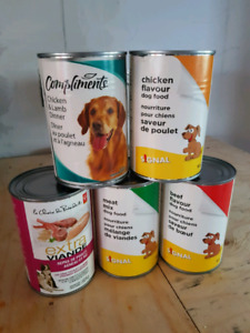 5 Cans of Dog food