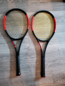 Two Wilson Pro Staff 97 racquets strung - LIKE NEW! With covers