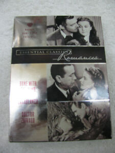 3 DVD BOX SET CASABLANCA DR ZHIVAGO GONE WITH THE WIND ROMANCE E