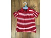 Boys RAPLH Lauren polo tshirt size 12-18 months