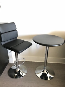 Adjustable Height Pub Table and Chair