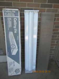 "48"" double fluorescent ceiling light New"