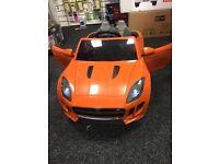 Jaquar F-Type Orange 12v Doors Open