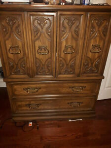 Armoire and 2 Side Tables