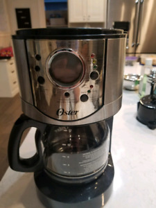 Oster fully programmable 12 cup coffeemaker.