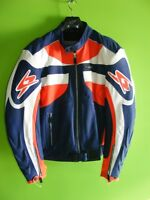 SPYKE - Leather Jacket - Orange / Blue at RE-GEAR Kingston Kingston Area Preview