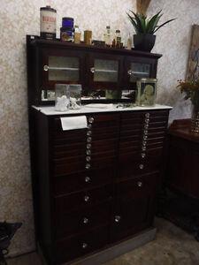Beautiful Antique Vintage Dental Cabinet 22 Drawers Dusty Loft