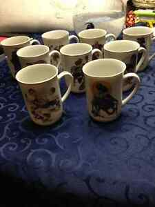 13 Norman Rockwell collective mugs