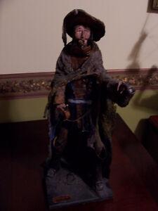 D'Artagnan figurine in papier-mâché