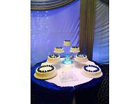 6 Tier Cascade Wedding Cake Stand Set with Fountain