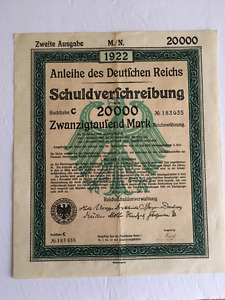 German Bond from 1922