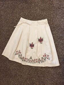 Hand Embroidered And Lined, Boutique Skirt, Purchased In Amsterd