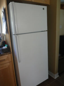 GE REFRIGERATOR - WHITE, clean, excellent condition, 3yrs