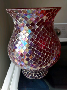 Mirror mosaic candle Holder