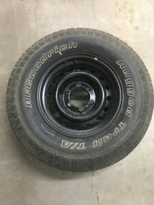 265/70/16 Tire with Toyota Tundra Steel Rim