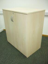 Office storage cupboard in maple wood, 2 doors