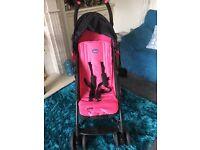 Maclaren Chicco pink & black buggy
