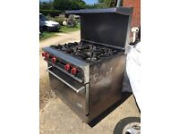 6 burner commercial cooker