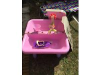 Girls sand and water table