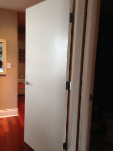 "36"" x 84""  flat panel interior solid core door  with hardware"