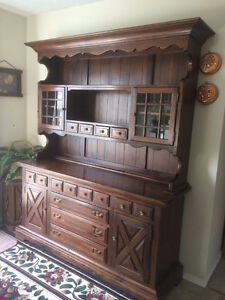 china cabinet table and 5 chairs