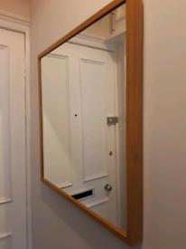 John Lewis Solid OAK Mirror - 6 Months Old