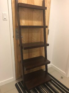 Ladder style bookcase and desk