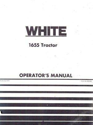 White Oliver 1655 Gas And Diesel Tractor Owner Operators Manual