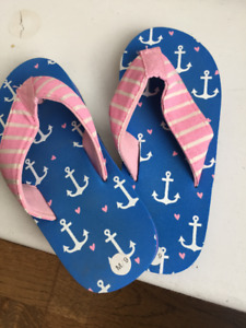 Hatley Toddler Girl Flip Flops Size 9