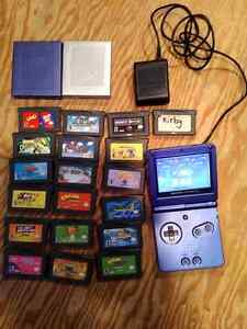 Gameboy Advanced  SP plus 20 games