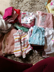 Bag full of 6 to 9 month clothes girls