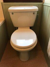 Bathroom: bath, sink, toilet