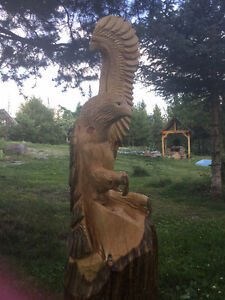 chainsaw wood sculptures and furniture