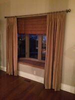 Custom made bay window panels and roman