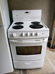 Apartment size stove with  6 month's warranty parts and labour