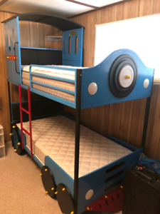 Beautiful new train bunk beds. Mattresses INCLUDED!