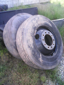 11 22.5 truck tires and bud wheels