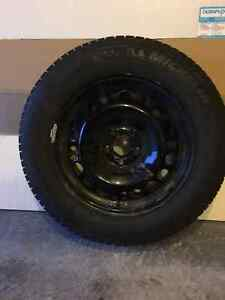 "16"" Michelin X-Ice snow tires WITH steel rims"
