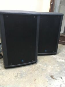 2 yorkville NX300 loud speakers