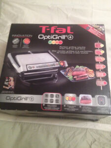 T-Fal OptiGrill Stainless Steel Indoor Electric Grill,Sealed Box