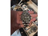 Rolex GMT ii black dial ceramic bezel automatic Swiss