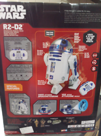 R2d2 droid robot with remote for sale  Sheffield, South Yorkshire