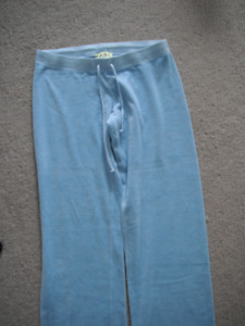 Ladies Blue Velour Juicy Couture Pants Size Large