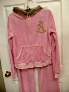 'Juicy Couture' Velour Track Suit - Lady's Small or Girls Med.