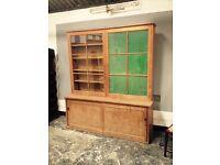 Beautiful Antique pine Gun cabinet / gun safe