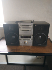 TECHNICS HD301 SEPARATES SYSTEM + SPEAKERS AND BLUETOOTH ADAPTER