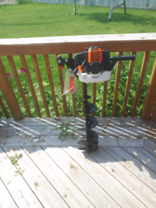 Earth or ice fishing auger never been used 2 stroke