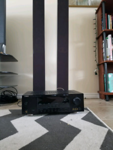 Yamaha sound reciever RV-V361 and 2 sounds towers